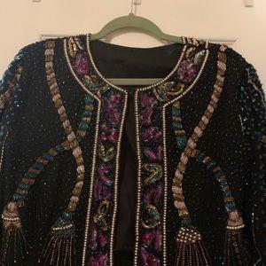 Vintage Jackets & Coats - Unique Vintage beaded embellished trophy jacket